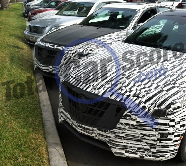 Next-gen Cadillac CTS-Vs held in parking lot