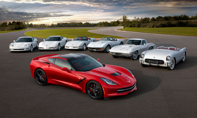 Corvette History - models from every generation through C7