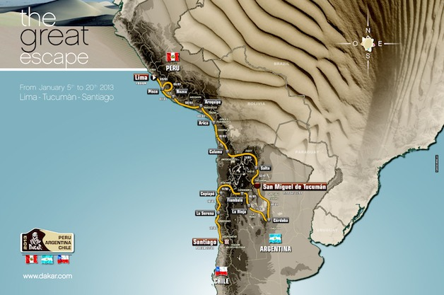 Dakar Rally route 2013