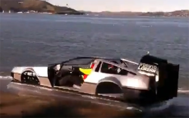 DeLorean Hovercraft - video screencap