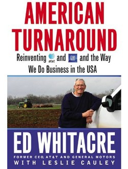 Ed Whitacre's new book American Turnaround - cover