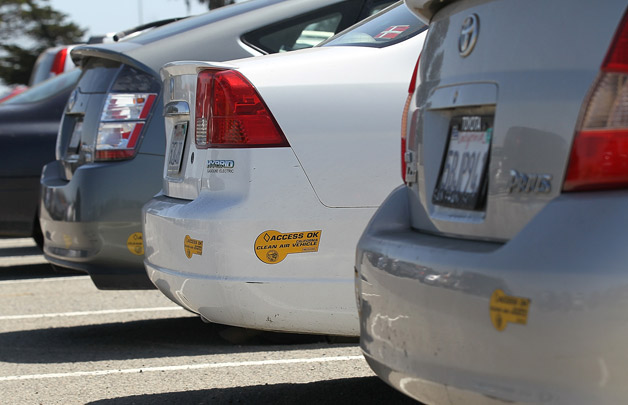 HOV Lane CARB stickers on hybrids