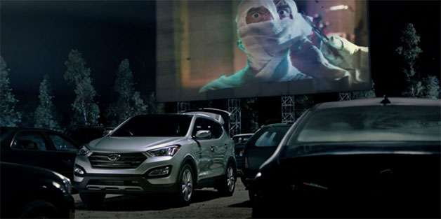 Hyundai Santa Fe Super Bowl commercial screencap