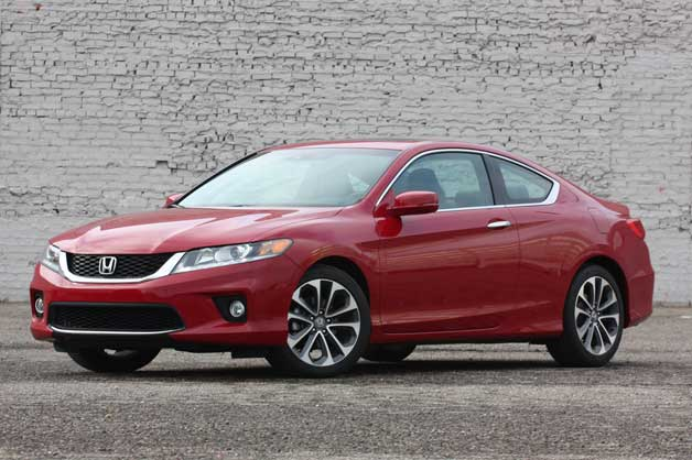 2013 Honda Accord V6 Coupe - red - front three-quarter view