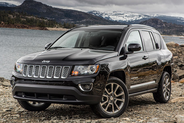 2014 Jeep Compass - front three-quarter view, black