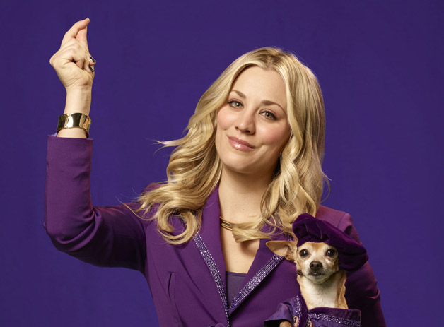 Kaley Cuoco with small dog