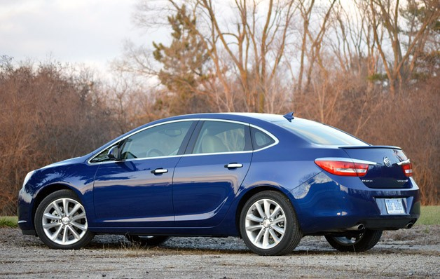 2013 Buick Verano Turbo rear 3/4 view