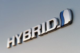 2013 Toyota Camry Hybrid badge