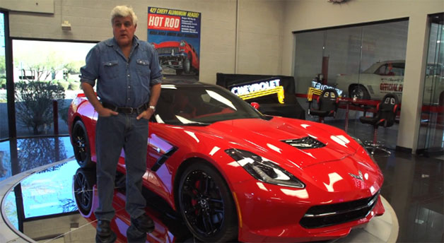 Jay Leno with C7 Corvette