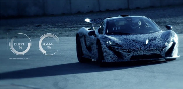 McLaren P1 supercar official development video - screencap