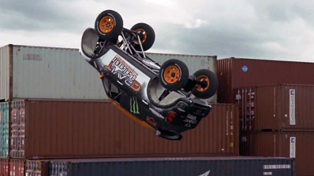 Mini attempts first-ever backflip in the car