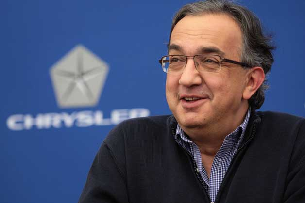 Chrysler/Fiat boss Sergio Marchionne at Chrysler press conference