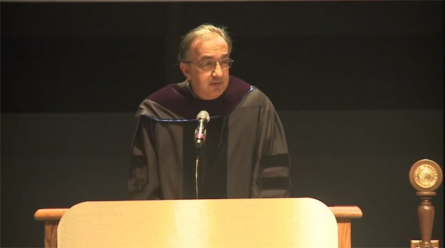 Sergio Marchionne commencement speech