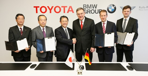 Toyota and BMW execs sign tech joint venture