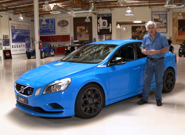Volvo S60 Polestar concept with Jay Leno in his garage