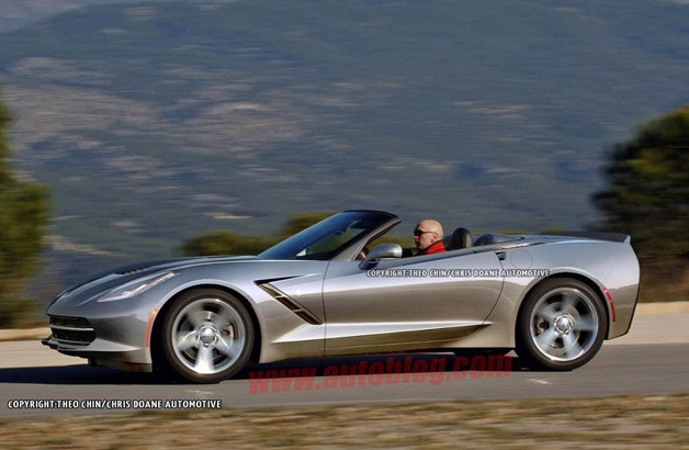 2014 Chevrolet Corvette Stingray Convertible rendering - top down