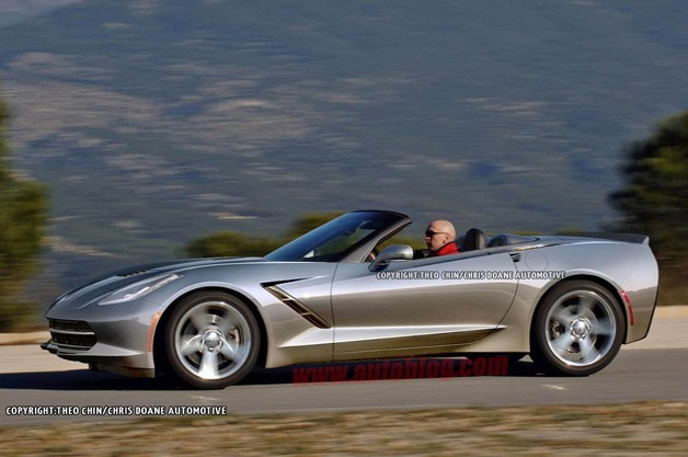 Corvette Stingray Convertible - silver rendering