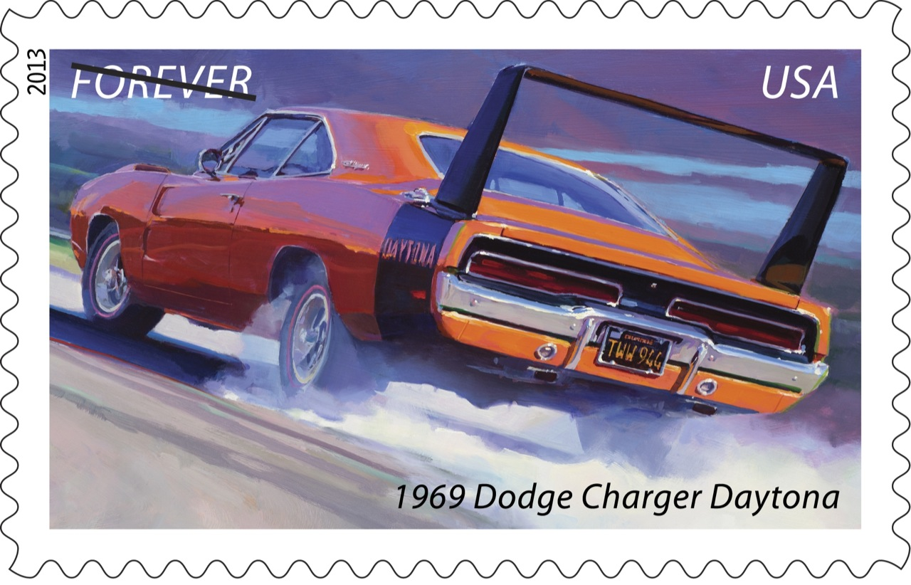Official usps muscle cars stamps coming to a mailbox near for Car mailboxes for sale