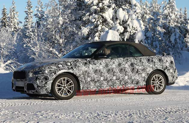 BMW 2 Series Convertible spy shots