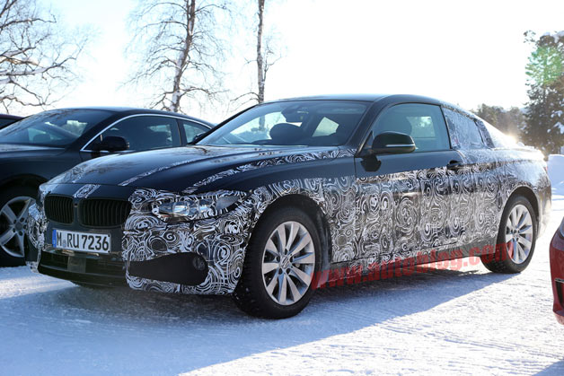 BMW 4 Series spied with its future competition