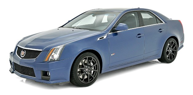 2014 Cadillac CTS-V Stealth Blue edition - front three-quarter view