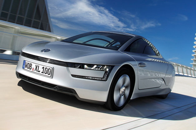 Volkswagen XL1 production car - front three-quarter view