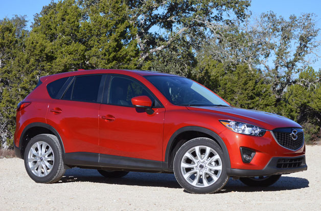 2014 Mazda CX-5 with 2.5-liter Skyactiv four-cylinder. Front three-quarter view