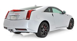 Cadillac CTS-V Silver Frost - rear three-quarter view