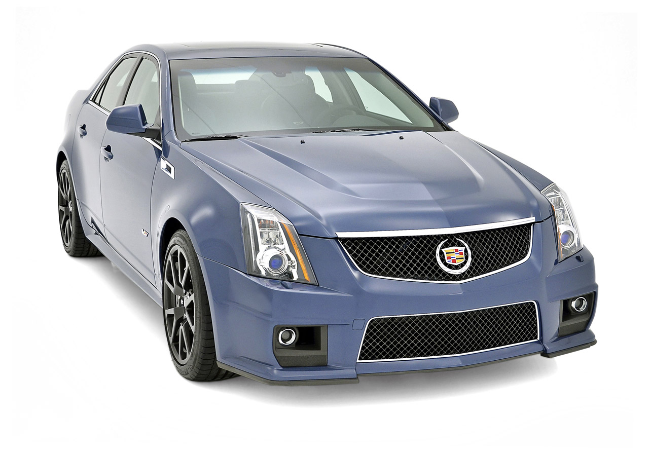 cadillac cts v gets stealth blue and silver frost limited. Black Bedroom Furniture Sets. Home Design Ideas