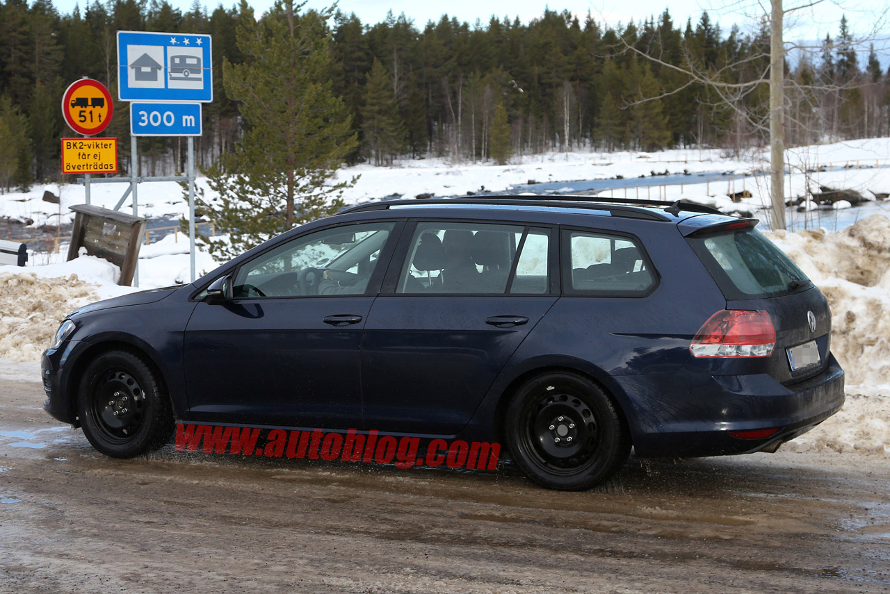 Volkswagen Golf Wagon Caught Completely Uncovered Autoblog