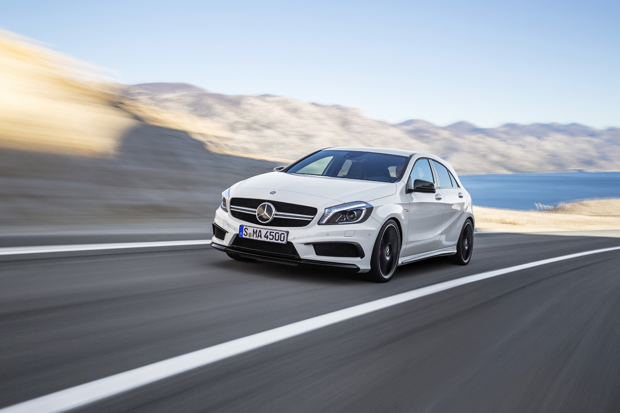 Mercedes-Benz A45 AMG shows up to fight the hottest hatches [w/videos]