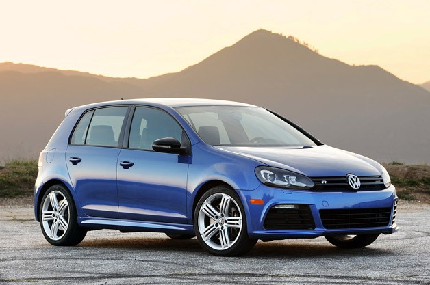 2012 Volkswagen Golf R - front three-quarter view