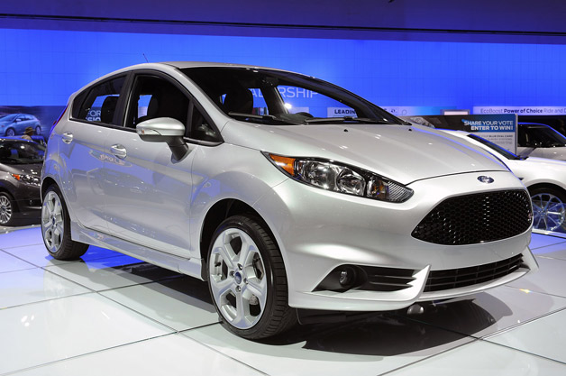 2014 Ford Fiesta ST - front three-quarter view, silver