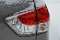 Snow-covered taillamp on long-term 2013 Pathfinder