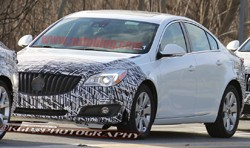 2014 Buick Regal prototype - front three-quarter view, disguised