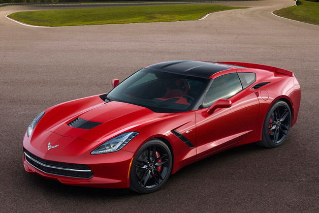 2014 Chevrolet Corvette - Front three-quarter view, red
