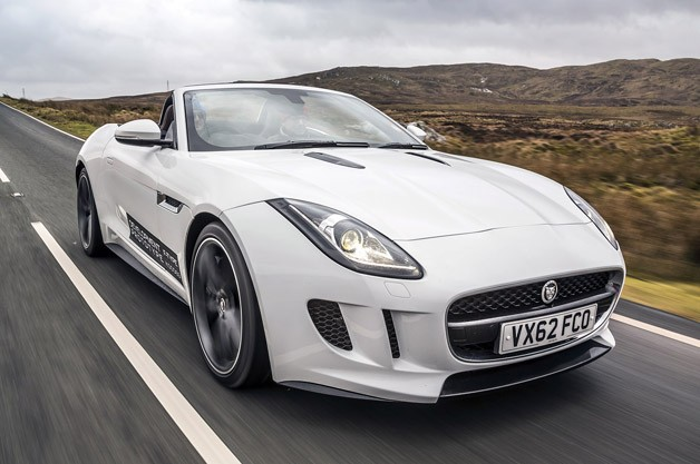 2014 Jaguar F-Type - front three-quarter view over-the-road