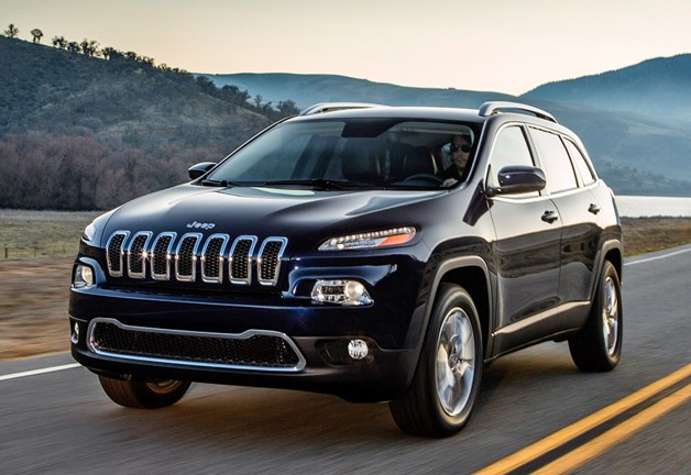 2014 Jeep Cherokee - on the road, front three-quarter view