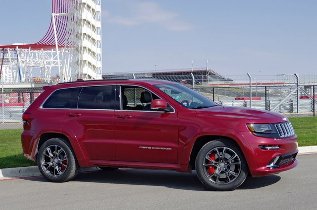 2014 Jeep Grand Cherokee SRT - front three-quarter view