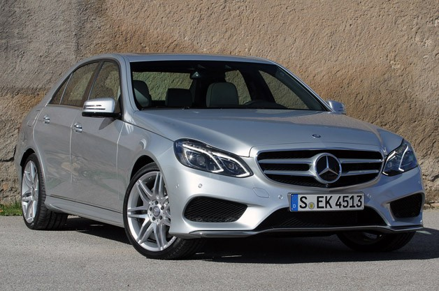 2014 Mercedes-Benz E-Class - front three-quarter view, silver