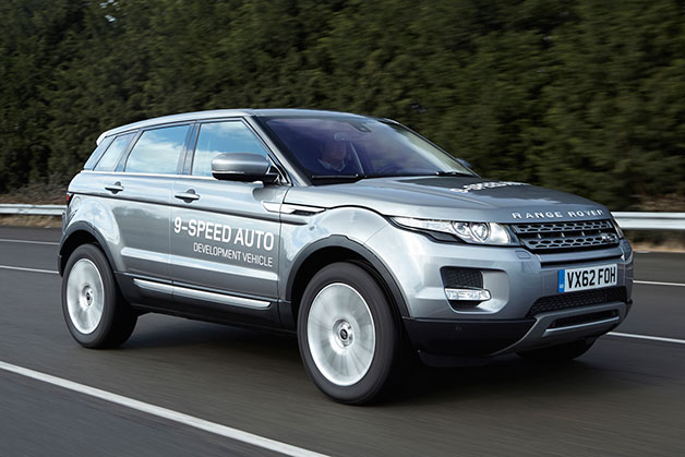 Land Rover Range Rover Evoque - 9-speed ZF transmission development vehicle - on the road