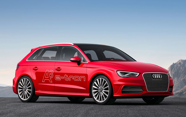 2013 Audi A3 E-tron - front three-quarter view, red