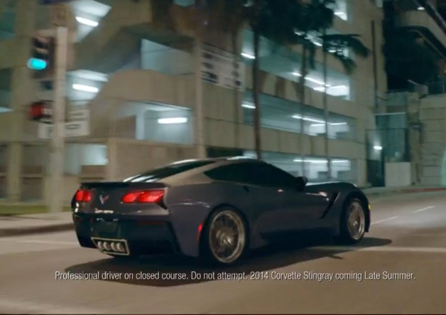 2014 Chevrolet Corvette Stingray as featured in new Chevy full-line ad - screencap