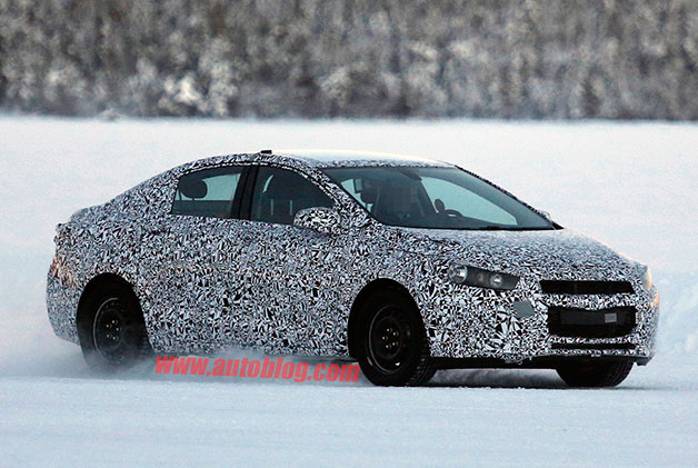 Next-generation Chevrolet Cruze caught winter testing