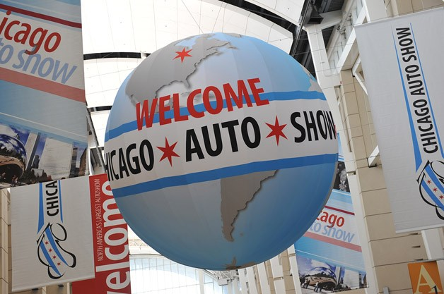 2013 Chicago Auto Show - overhead banners