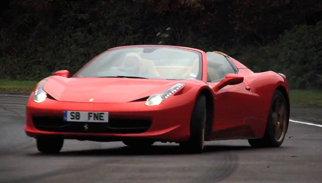 "Watch Chris Harris expostulate a Ferrari 458 Spider similar to an ""idiot"""