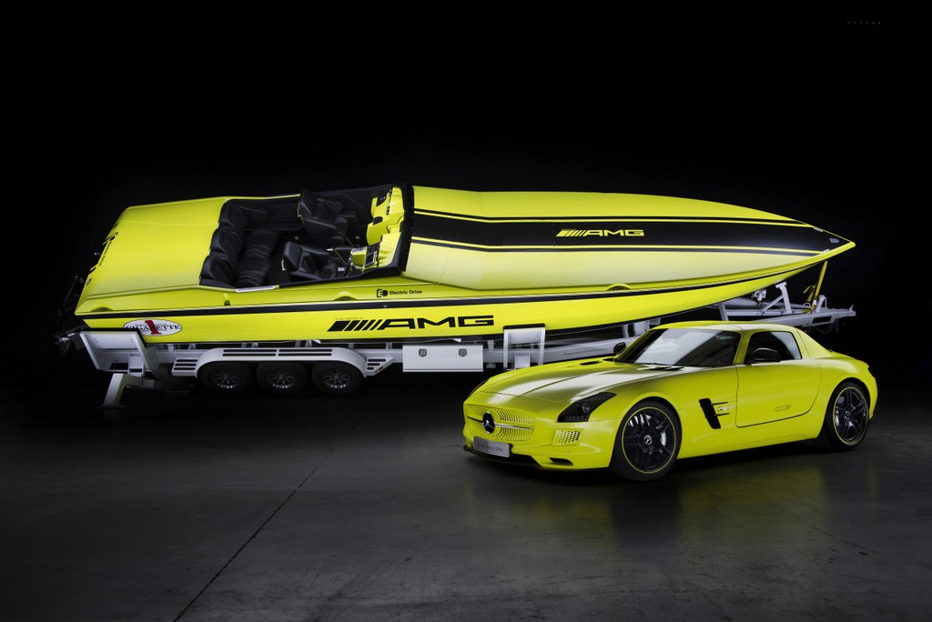 Mercedes Benz Amg Cigarette Racing All Electric Motor Boat