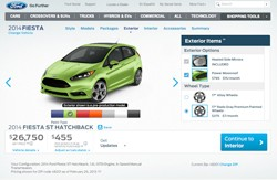 Ford Fiesta ST configurator