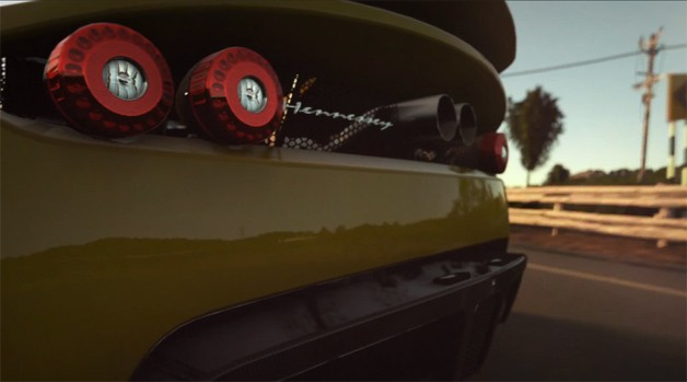 PS4 game DriveClub - screencap of Hennessey's taillamps