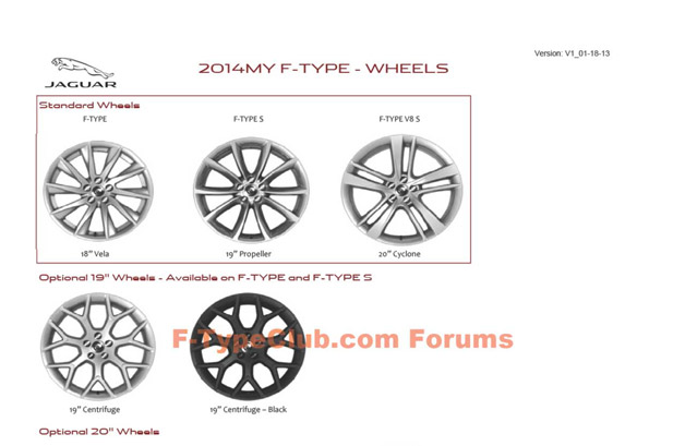 Jaguar F-Type Order Guide - wheel images